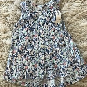 Old Navy Floral Button Front Tank
